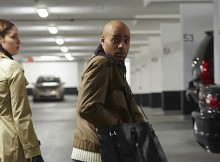 Rainbow Sun Francks and Natalie Krill in CTV's 'The Listener.' Episode 513 'In Our Midst.' Photo from Bell Media.