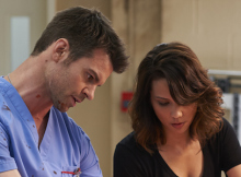 Daniel Gillies and Lexa Doig in CTV's 'Saving Hope.' Photo from Bell Media.