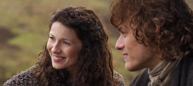 Caitriona Balfe and Sam Heughan in Starz' 'Outlander.' Photo from Shaw Media.