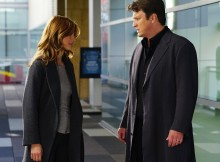 "CASTLE - ""Tone Death"" - When a body is found in the theater of Martha's latest show, Castle and Beckett's investigation leads them into the unexpectedly dangerous world of competitive a capella. ""High School Musical""'s Corbin Bleu guest stars. ""Tone Death"" will air on MONDAY, FEBRUARY 8 (10:01-11:00 p.m. ET/PT), on the ABC Television Network. (ABC/Richard Cartwright) STANA KATIC, NATHAN FILLION"