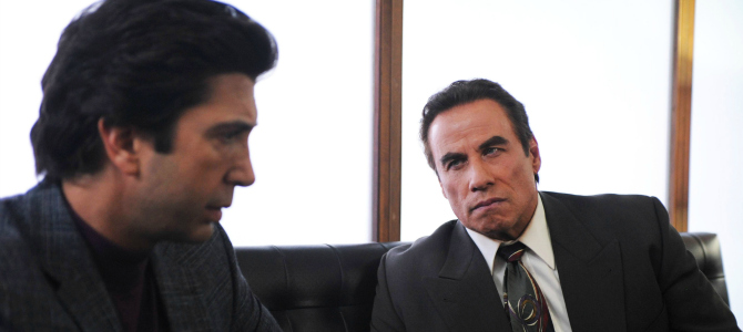 """THE PEOPLE v. O.J. SIMPSON: AMERICAN CRIME STORY """"From the Ashes of Tragedy"""" Episode 101 (Airs Tuesday, February 2, 10:00 pm/ep) -- - Pictured: (l-r) David Schwimmer as Robert Kardashian, John Travolta as Robert Shapiro. CR: Ray Mickshaw/FX"""
