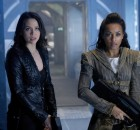 "DARK MATTER -- ""We Should Have Seen This Coming"" Episode 206 -- Pictured: (l-r) Melissa O'Neil as Two, Melanie Liburd as Nyx -- (Photo by: Steve Wilkie/Prodigy Pictures/Syfy)"