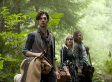 "THE MAGICIANS -- ""Night of Crowns"" Episode 201 -- Pictured: (l-r) Hale Appleman as Eliot, Olivia Taylor Dudley as Alice, Jason Ralph as Quentin -- (Photo by: Carole Segal/Syfy)"