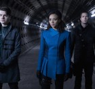 "KILLJOYS -- ""Boondoggie"" Episode 301 -- Pictured: (l-r) Hannah John-Kamen as Dutch, Luke Macfarlane as D'Avin -- (Photo by: Steve Wilkie/Killjoys III Productions Limited/Syfy)"