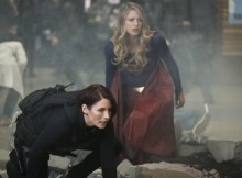 """Supergirl -- """"Both Sides Now"""" -- Image Number: SPG313c_0102.jpg -- Pictured (L-R): Chyler Leigh as Alex and Melissa Benoist as Kara/Supergirl -- Photo: Katie Yu/The CW -- © 2018 The CW Network, LLC. All Rights Reserved."""