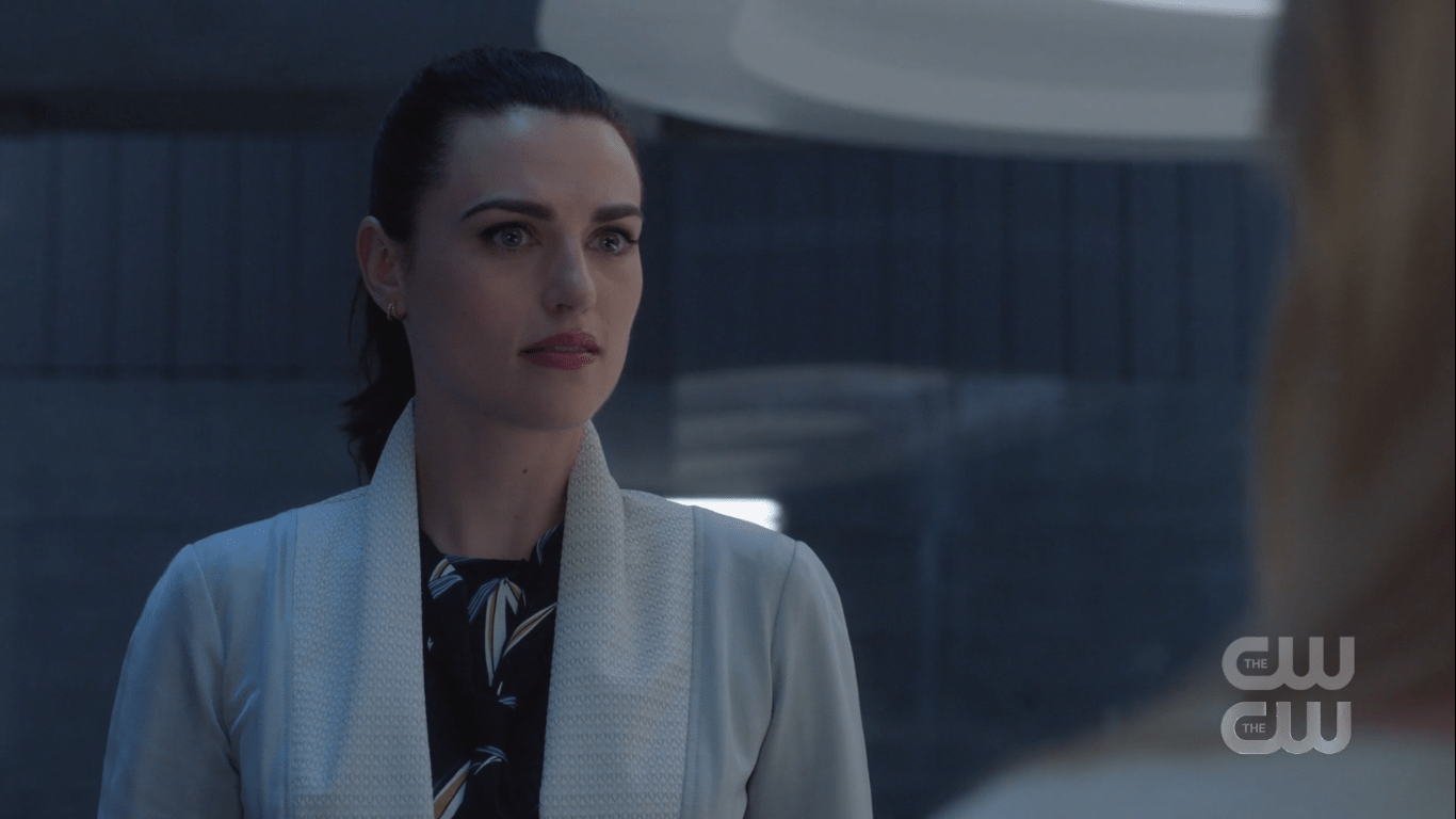 No, it only looks like a regular lab jacket. I'm still not following correct lab protocol. After all, I'm a Luthor. We laugh in the face of rules and regulations.